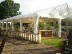 clearspan marquee in back garden