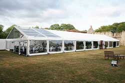 clearspan marquee wedding