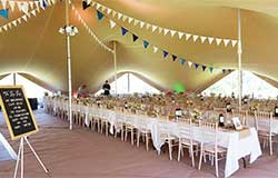 stretch tent interior