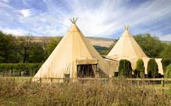 beautiful tipi outside
