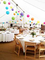 traditional wedding marquee interior