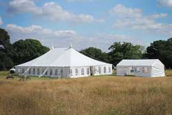 two traditional wedding marquee